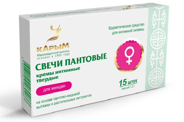 Пантовые свечи для женщин